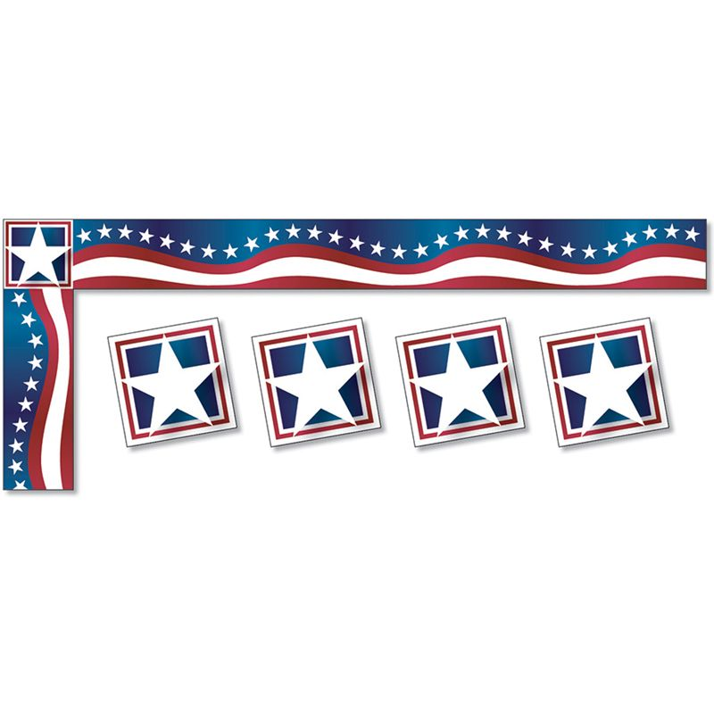 Stars & Stripes Trimmer All Around The Board