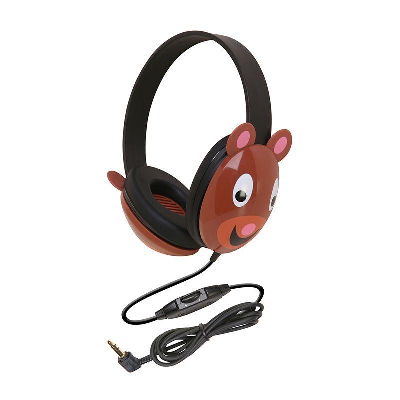 Listening First Animal-Themed Stereo Headphones Bear