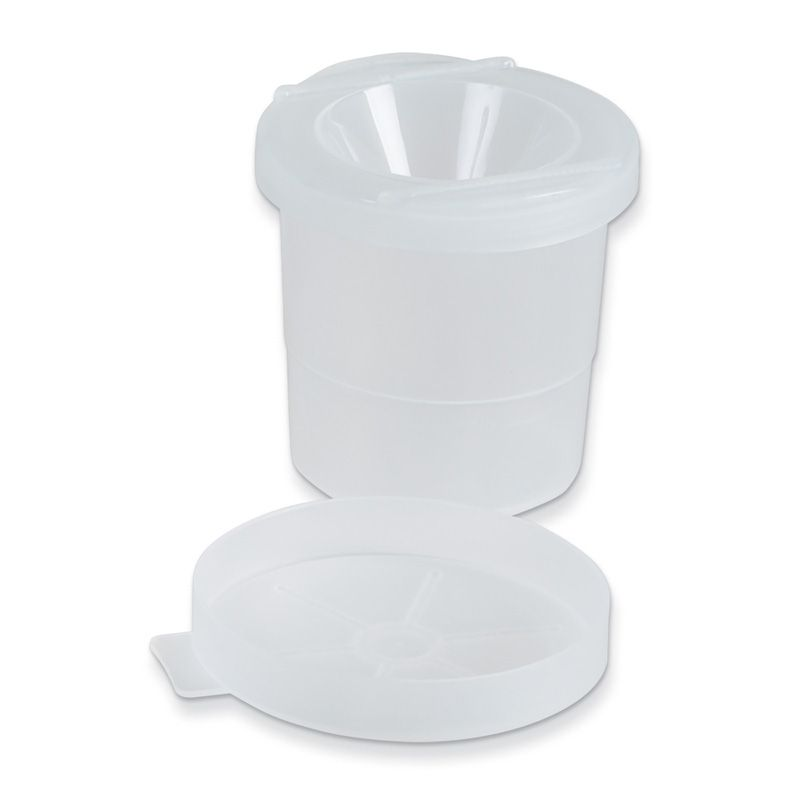 No Spill Paint Cups Translucent Lid 3in 10 Cups