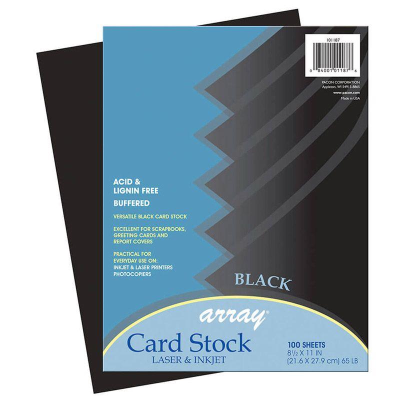 Array Card Stock Black 100 Sheets