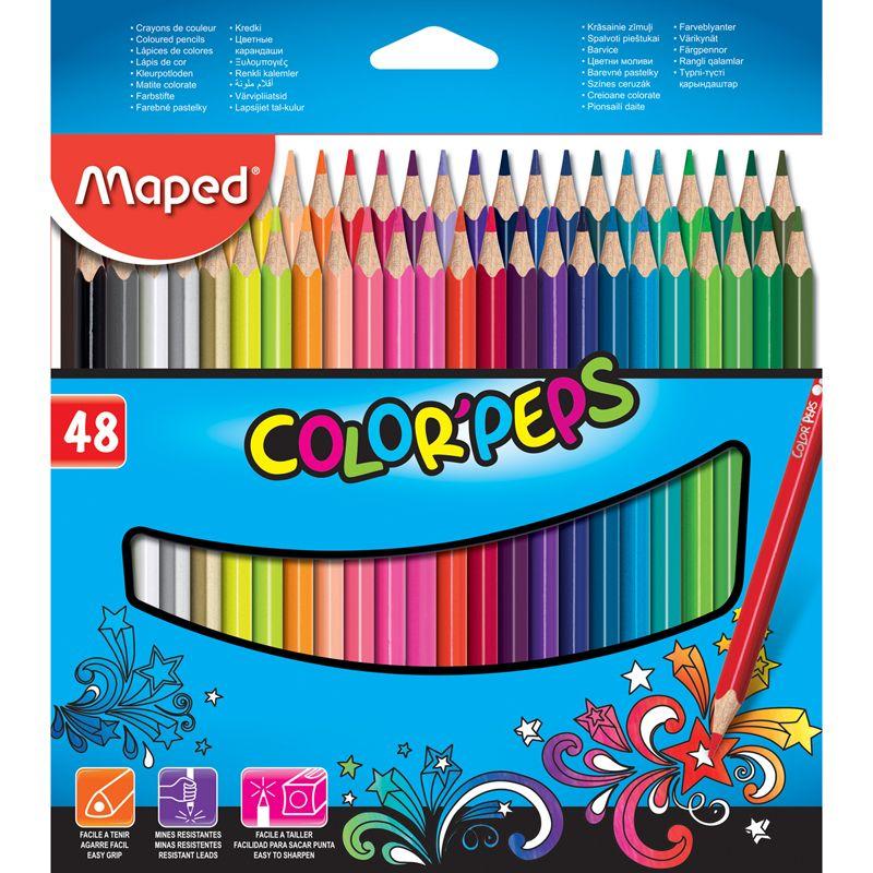 Triangular Colored Pencils 48pk Colorpeps