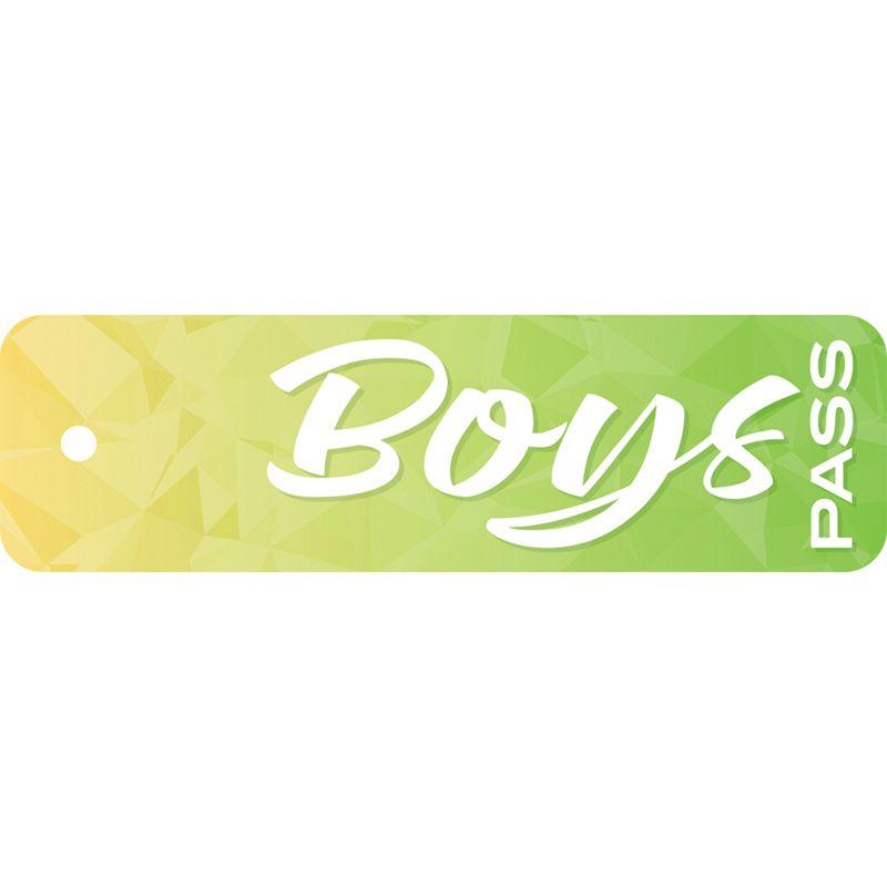Geo Abstract Boys Pass Styrene