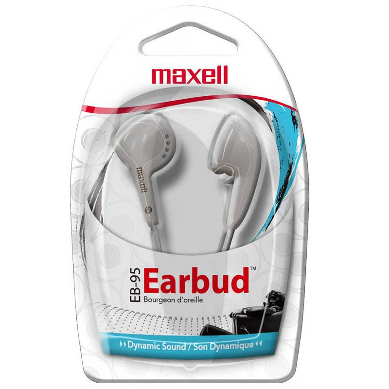 Maxell Budget Stereo Earbuds White