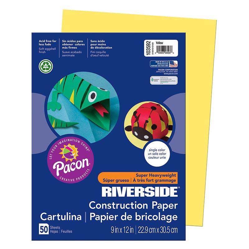 Riverside 9X12 Yellow 50 Sht Construction Paper