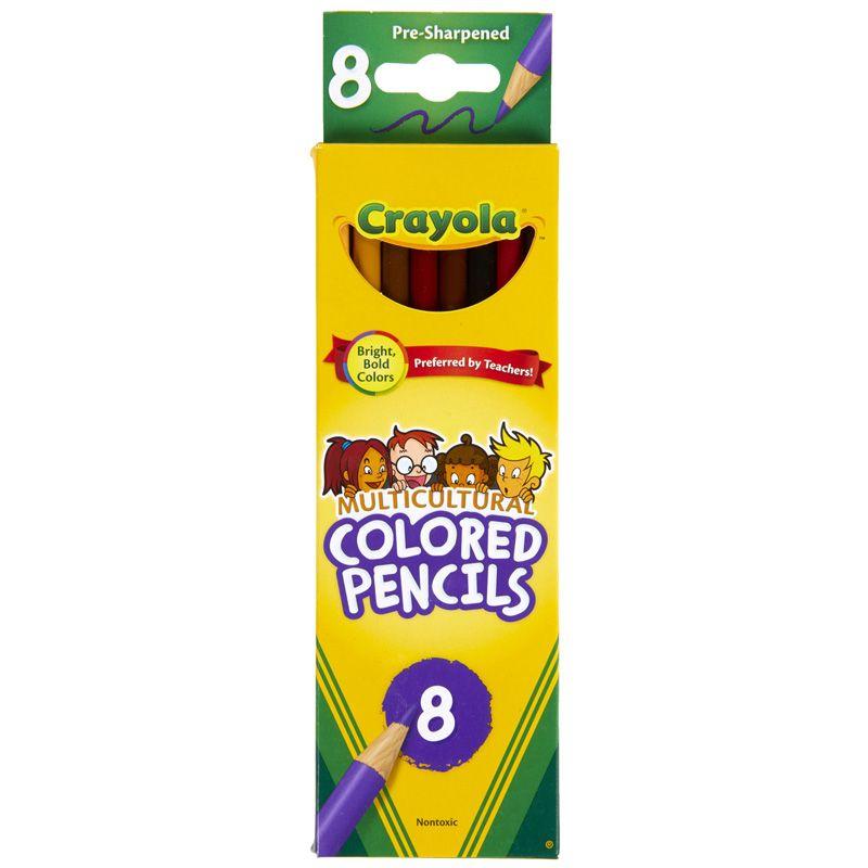 Crayola Multicultural 8 Ct Colored Pencils