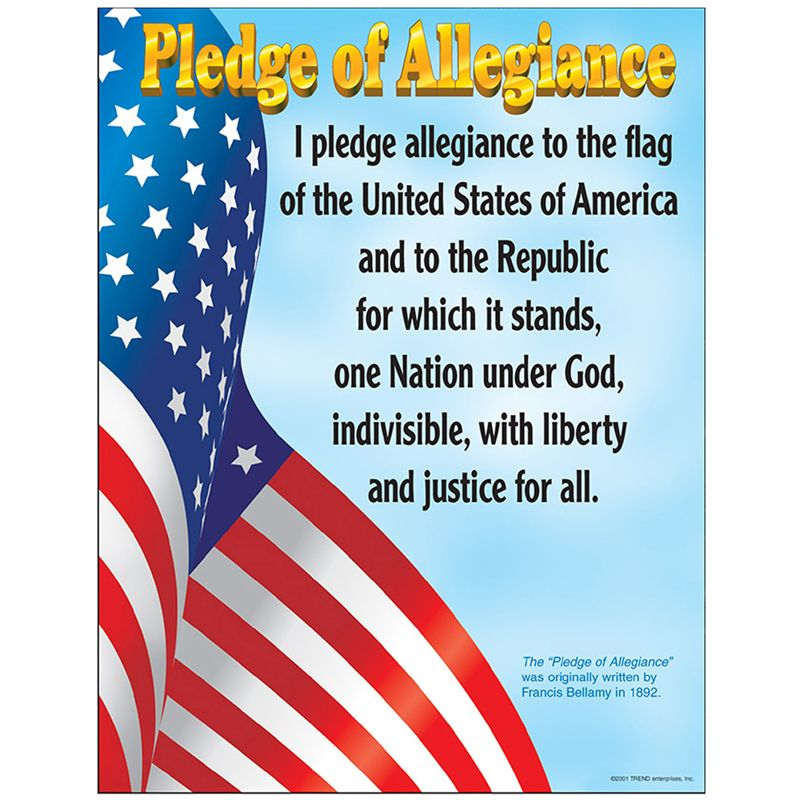 Chart Pledge Of Allegiance Gr K-3 17 X 22