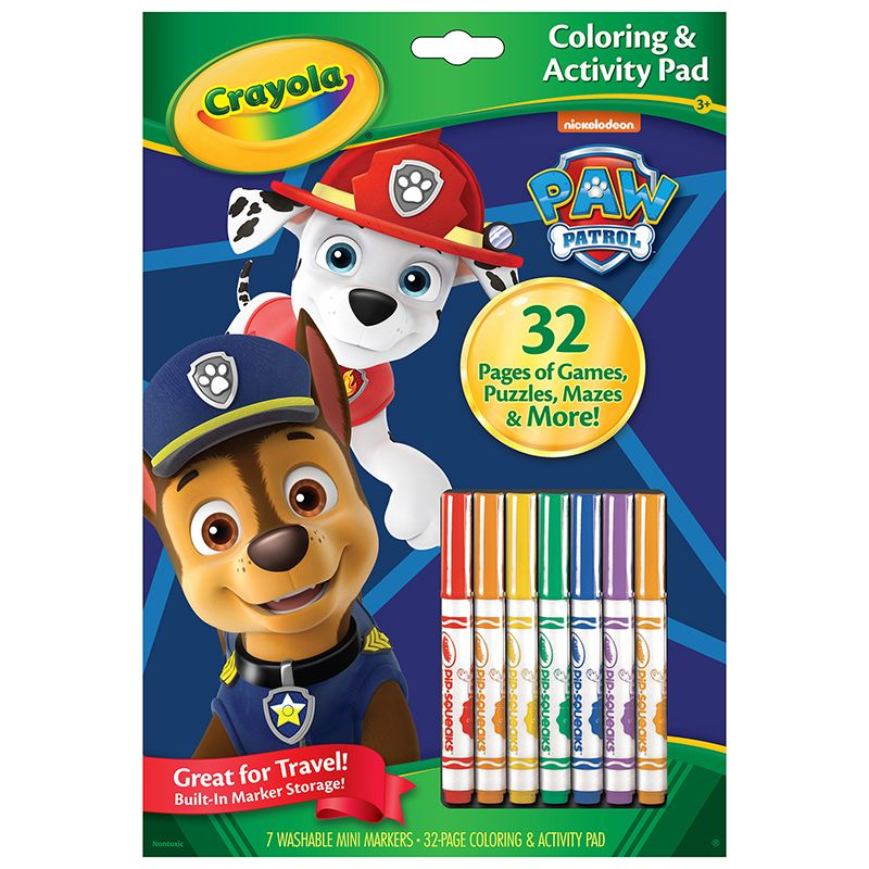 Coloring & Activity Pad Paw Patrol W/markers