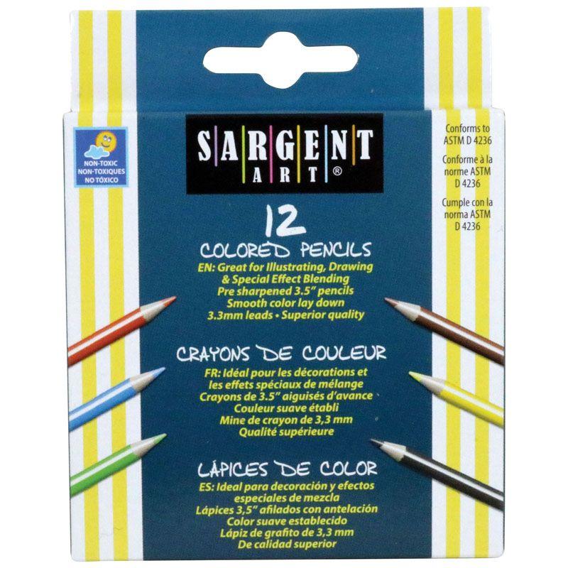 Sargent Art Half-Sized Colored Pencils 12 Color Set