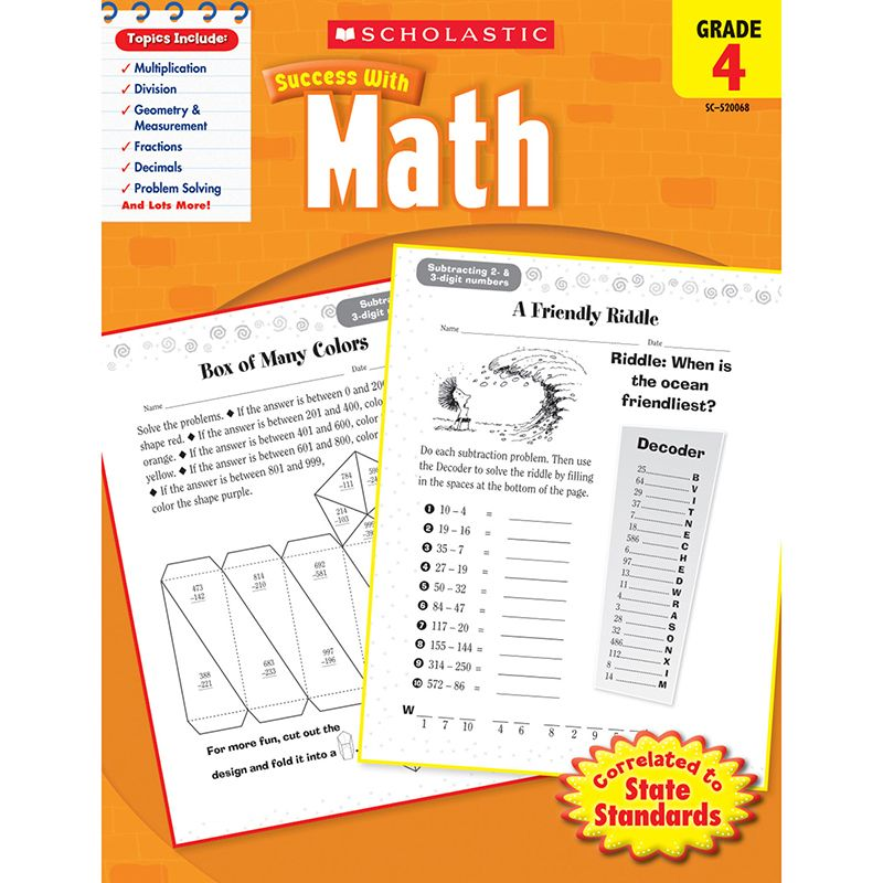 Scholastic Success With Math Gr 4