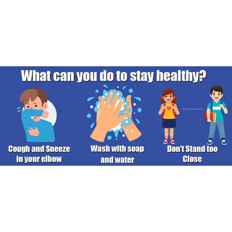 How To Stay Healthy Floor Stickers 5pk
