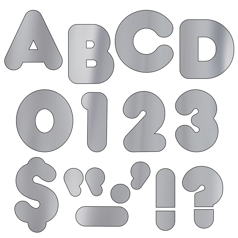 Ready Letters 2 Casual Metallic Silver