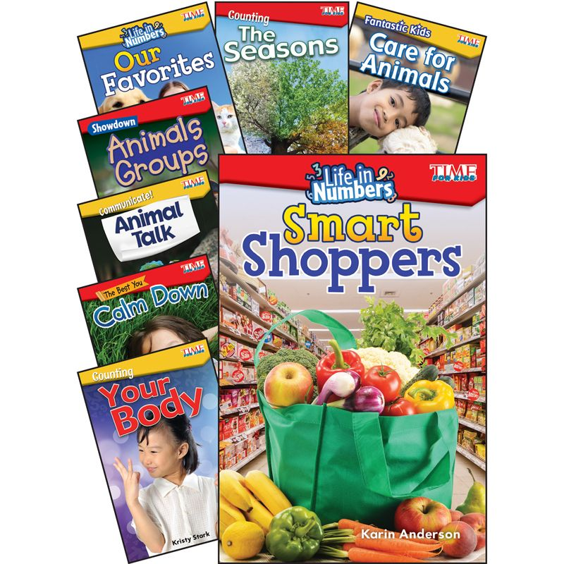 Time For Kids Math/science Gr K-1 8 Book Set
