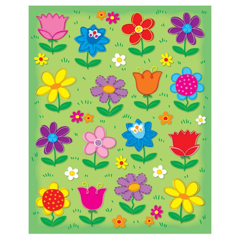 Flowers Shape Stickers 96Pk