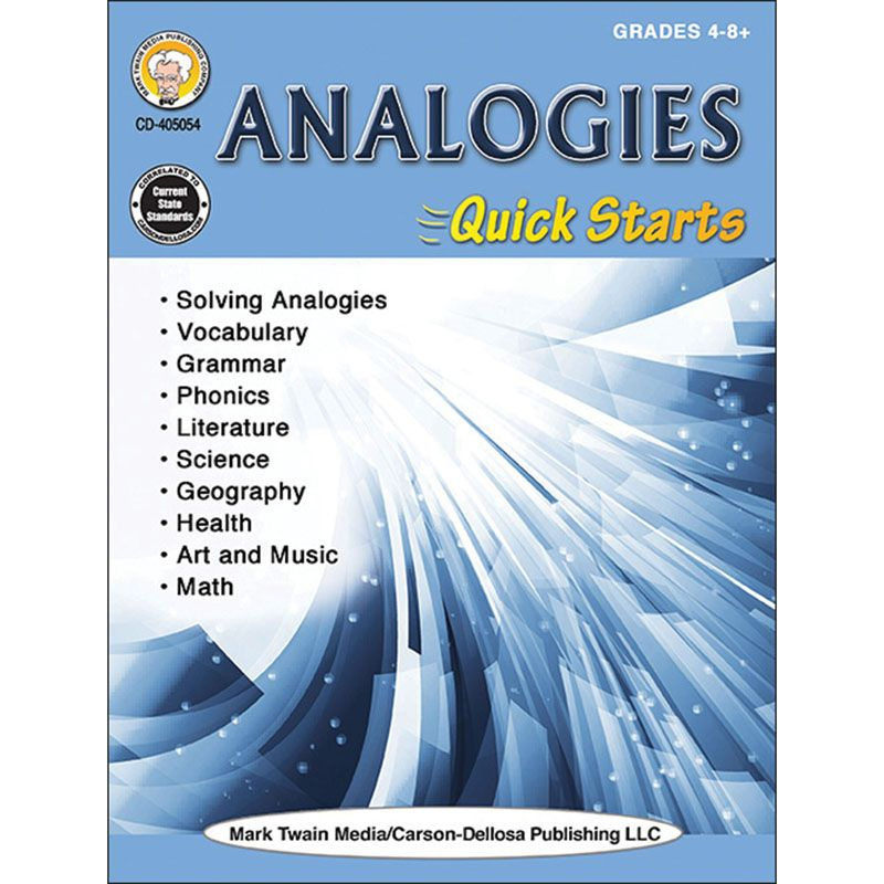Analogies Quick Strts Workbk Gr 4-8