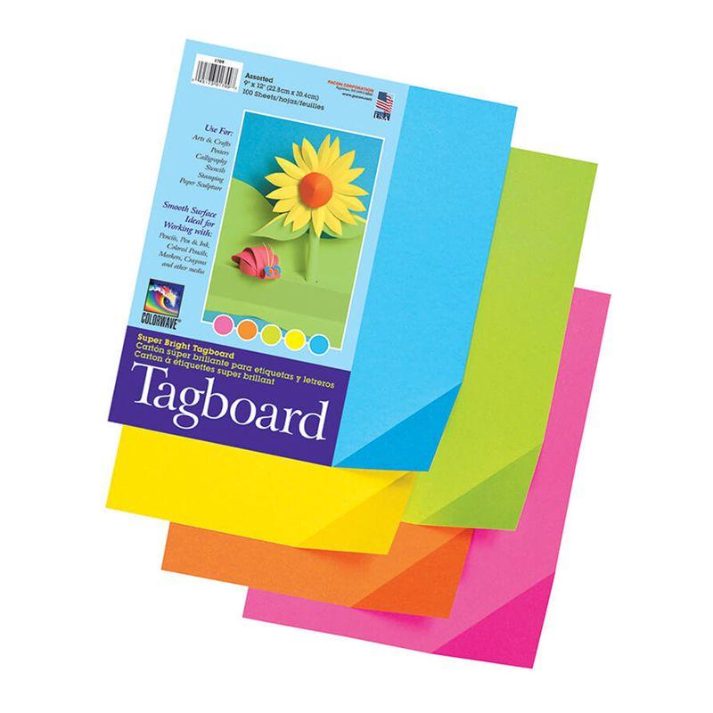 Colorwave Super Bright Tagboard 9 X 12 Inches