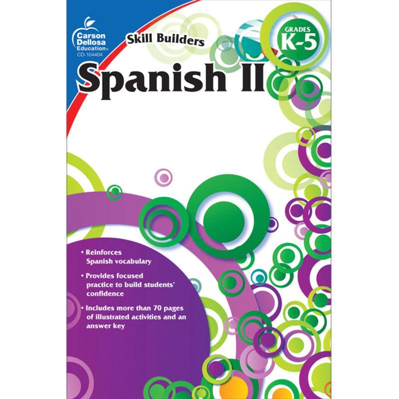 Skill Builders Spanish Level 2 Workbook Grade K-5