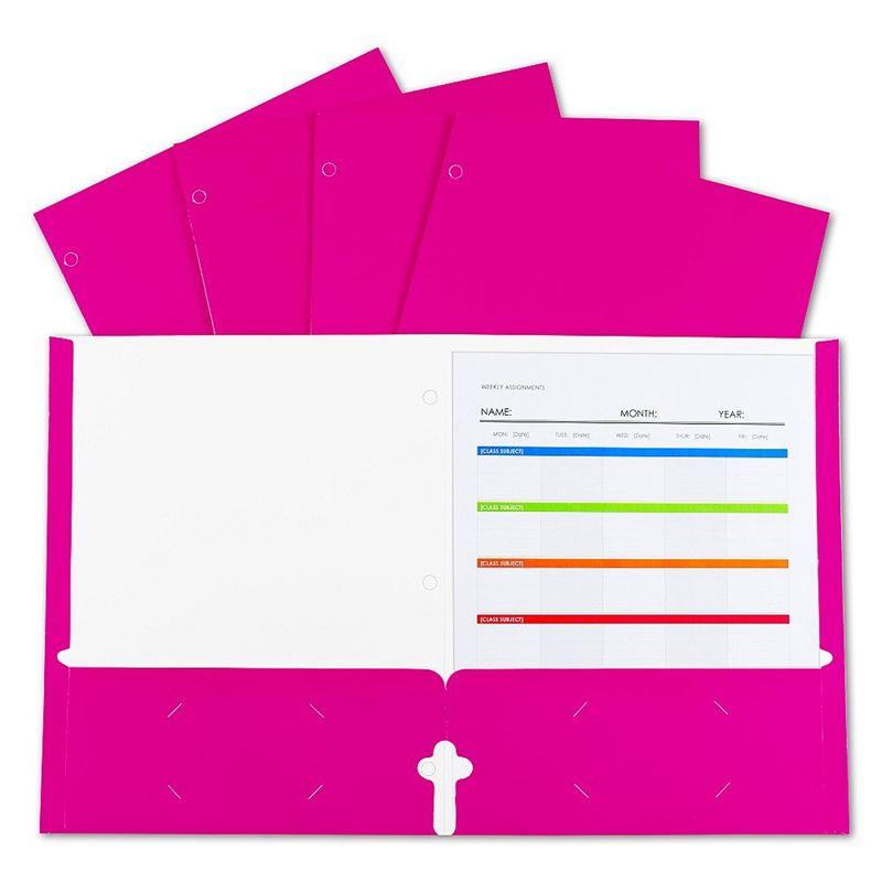 Lamnatd Papr Portfolios Pink 25/bx 2-pocket