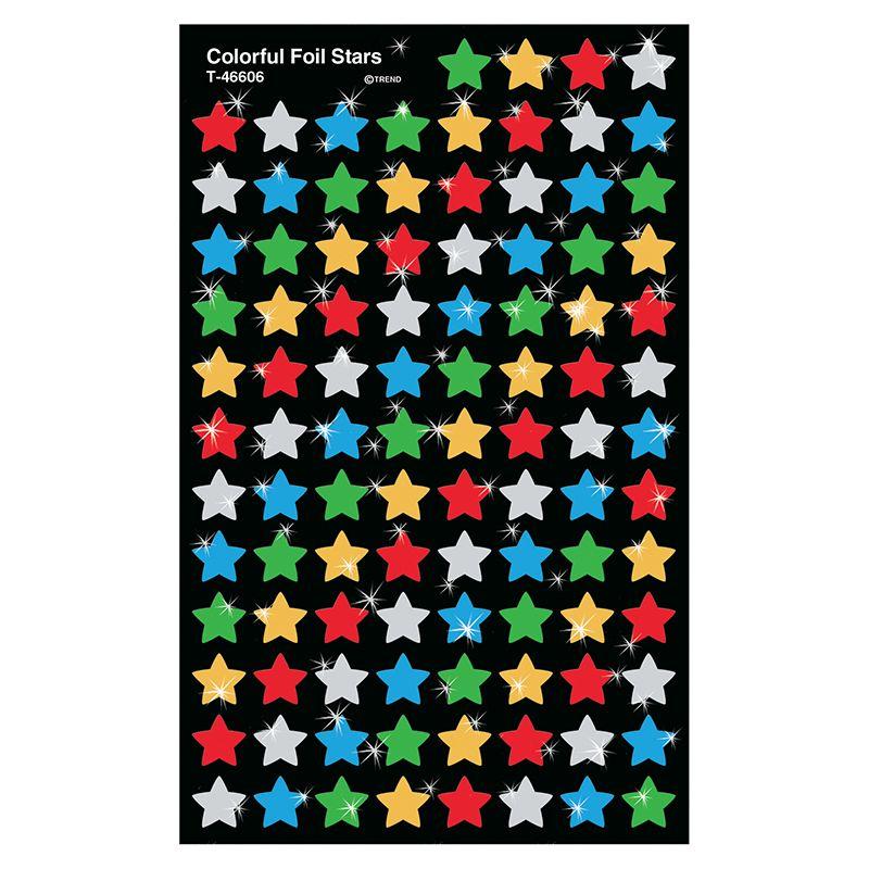 Supershapes Colorful Foil Stars