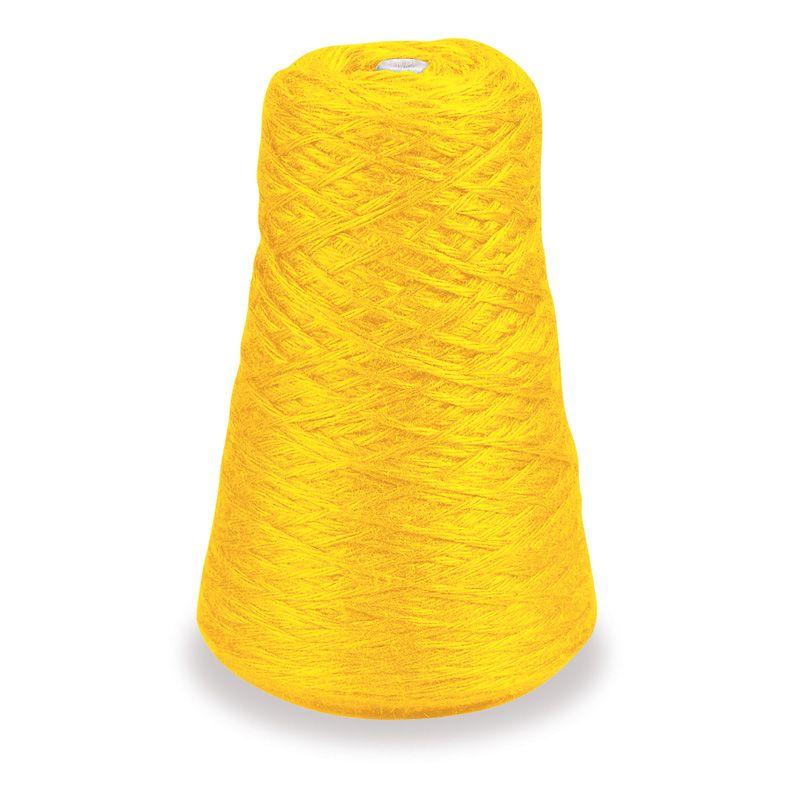 4 Ply Rug Yarn Refill Cone Yellow