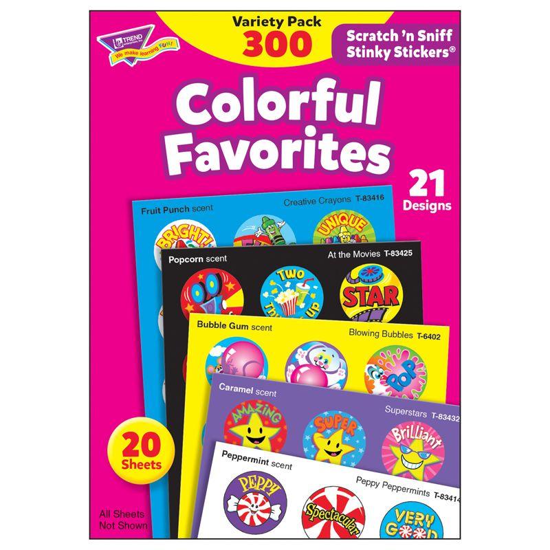 Stinky Stickers Colorful Favorites Acid-Free Variety 300/Pk