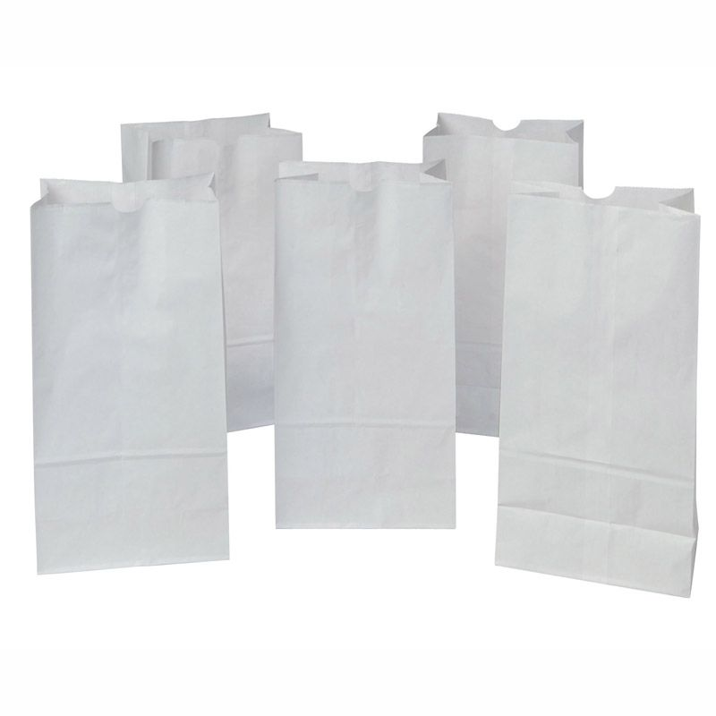 Rainbow Bags 50Ct White 7.13X14in