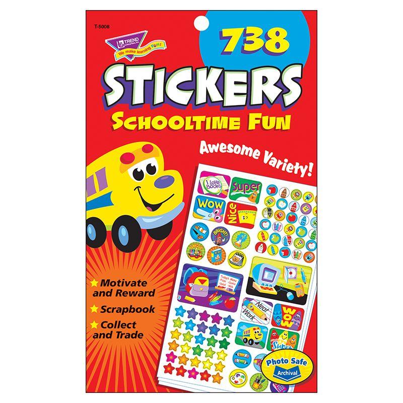 Sticker Pad Schooltime Fun