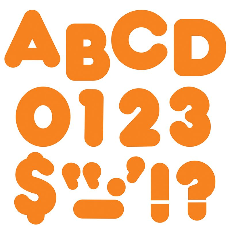 Ready Letters 2 Inch Casual Orange