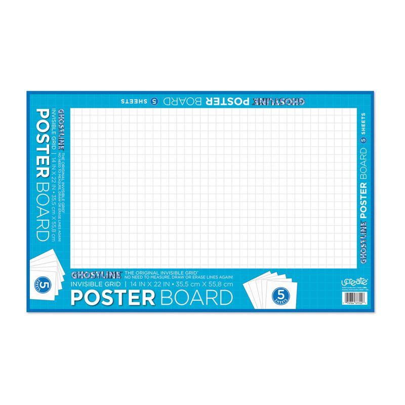 Poster Board White 5 Shts 24/ct 14x22