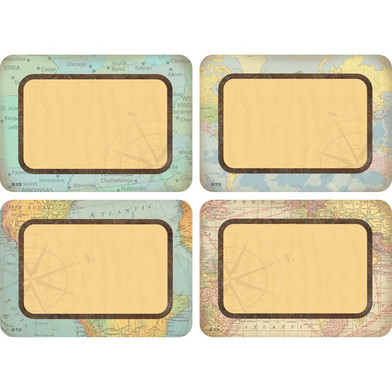 Travel The Map Name Tags/labels Multi Pack