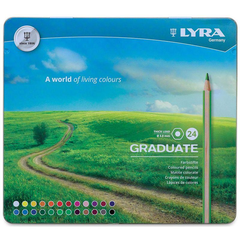 Graduate Colored Pencils Metal 24bx Lyra
