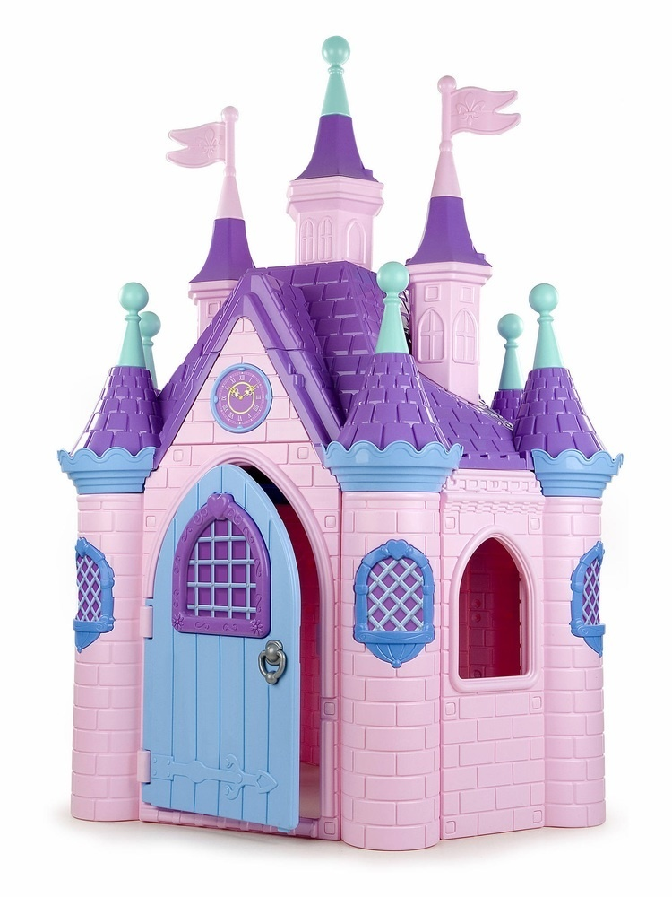 Jumbo Princess Palace Playhouse, Indoor/outdoor Castle With Turrets And Flags