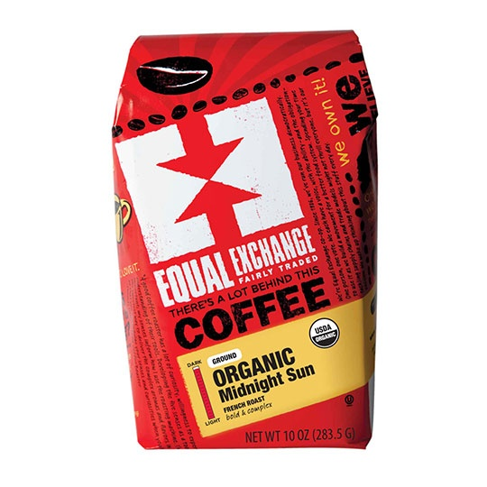 Equal Exchange Organic Coffee Midnight Sun Blend Ground Coffee 10 Oz.