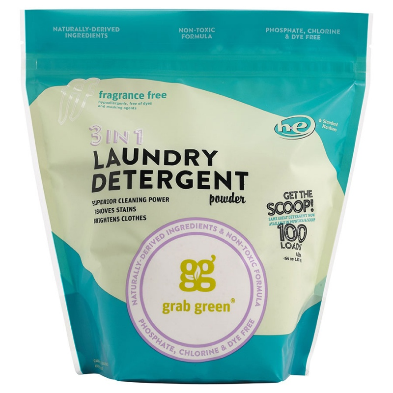 Grab Green Fragrance Free 3-in-1 Laundry Powder With Scoop 100 Loads
