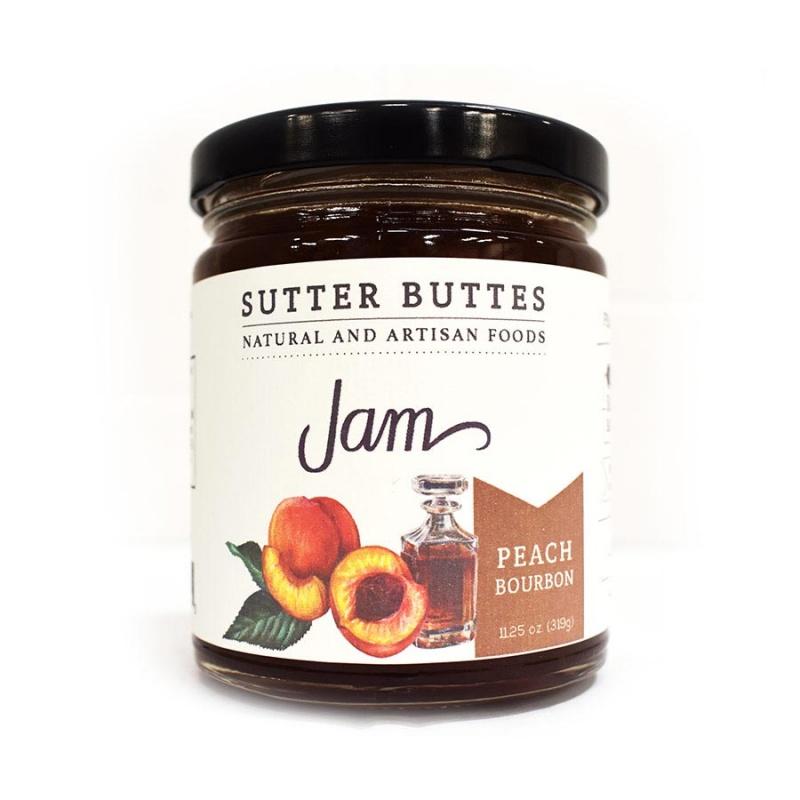Sutter Buttes Peach Bourbon Jam 11.25 Oz