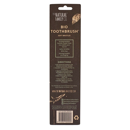The Natural Family Co. Rivermint And Ivory Desert Biodegradable Toothbrushes Twin Pack