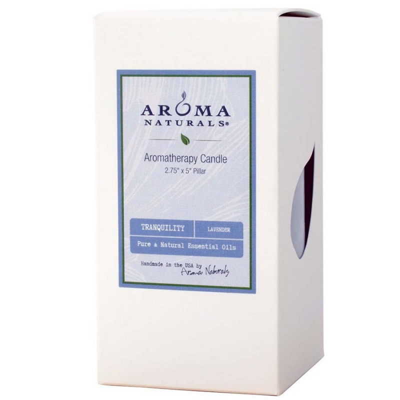 Aroma Naturals Tranquility Periwinkle Pillar 2 3/4 X 5