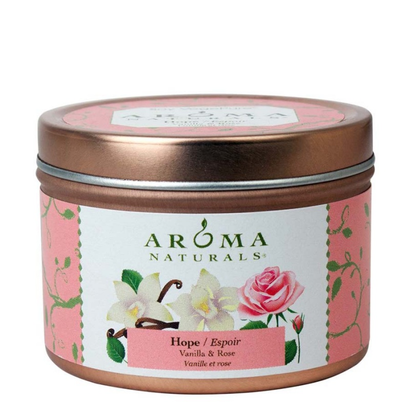 Aroma Naturals Hope Pale Pink Tin 2 1/2 X 1 3/4