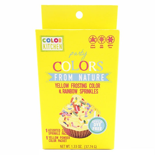 Color Kitchen Yellow Food Coloring + Sprinkle Kits
