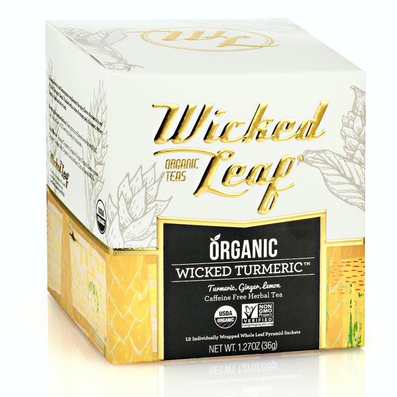 Wicked Joe Leaf Tea Wicked Turmeric Pyramid Sachets 12 Count