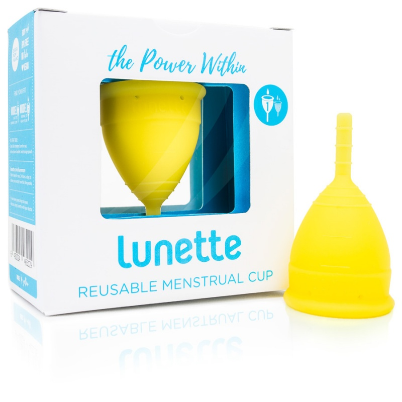 Lunette Lucia ( Yellow) Size 1 Menstrual Cup 1