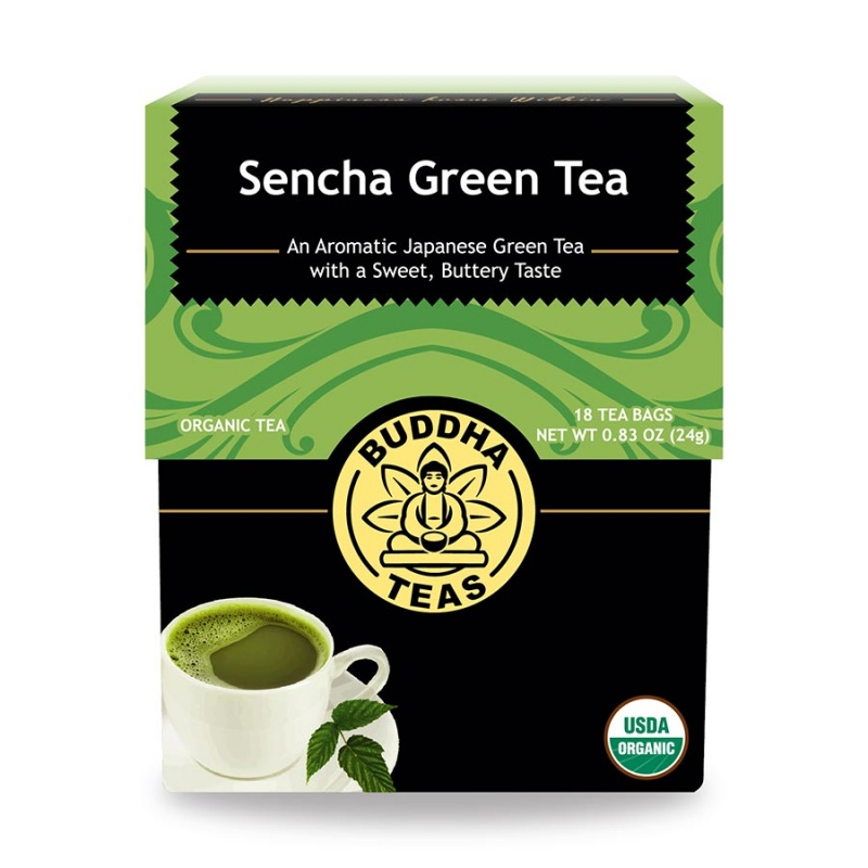Buddha Teas Organic Sencha 18 Tea Bags