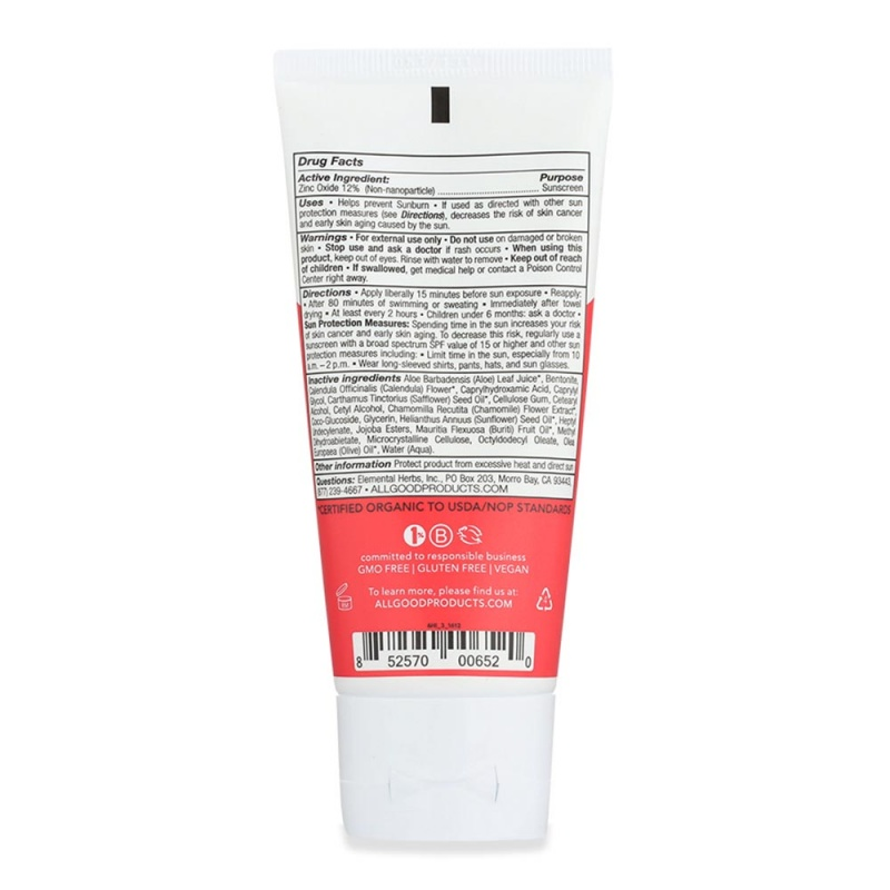 All Good S P F 30 Kid's Mineral Sunscreen Lotion 3 Oz. Tube