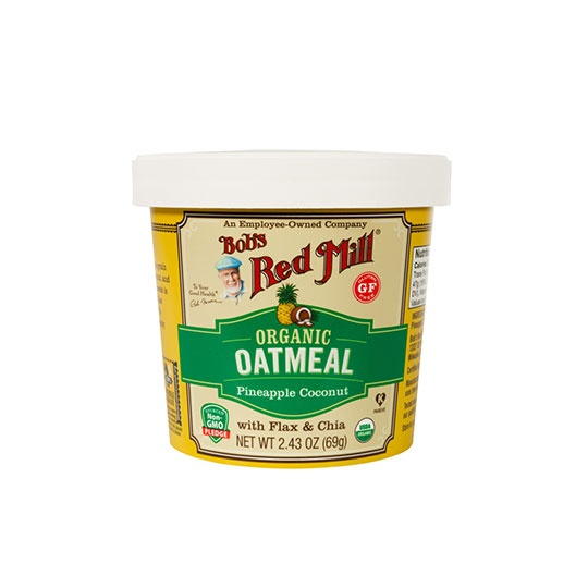 Bob's Red Mill Pineapple Coconut Organic Oatmeal Cups 12 (2.43 Oz.) Cups