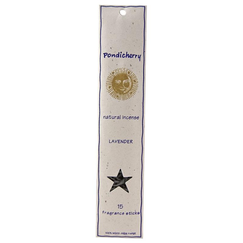 Pondicherry Natural Lavender Incense Sticks 15 Count