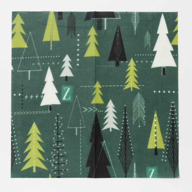 Z Wraps Medium Beeswax Wrap, Winter Trees Print 12 X 12