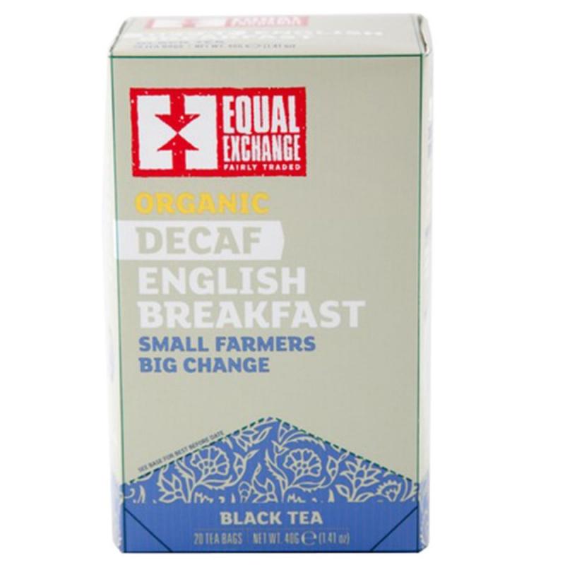 Equal Exchange Organic Decaffeinated English Breakfast Tea 20 Tea Bags