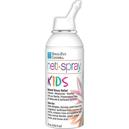 Himalayan Chandra Nasal Care Kids Saline Neti Spray 2.53 Fl. Oz