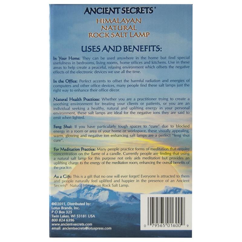 Ancient Secrets Medium Himalayan Rock Salt Lamp Medium 3-5 Lbs