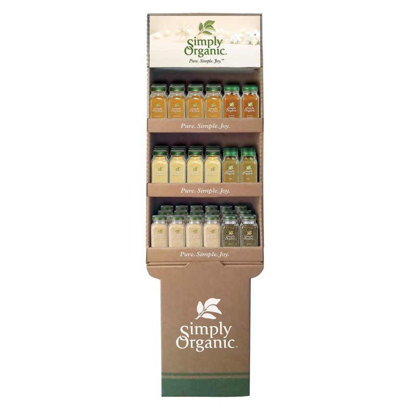 Simply Organic Sweet & Savory Holiday Bottle Shipper 54 Ct. 54 Ct