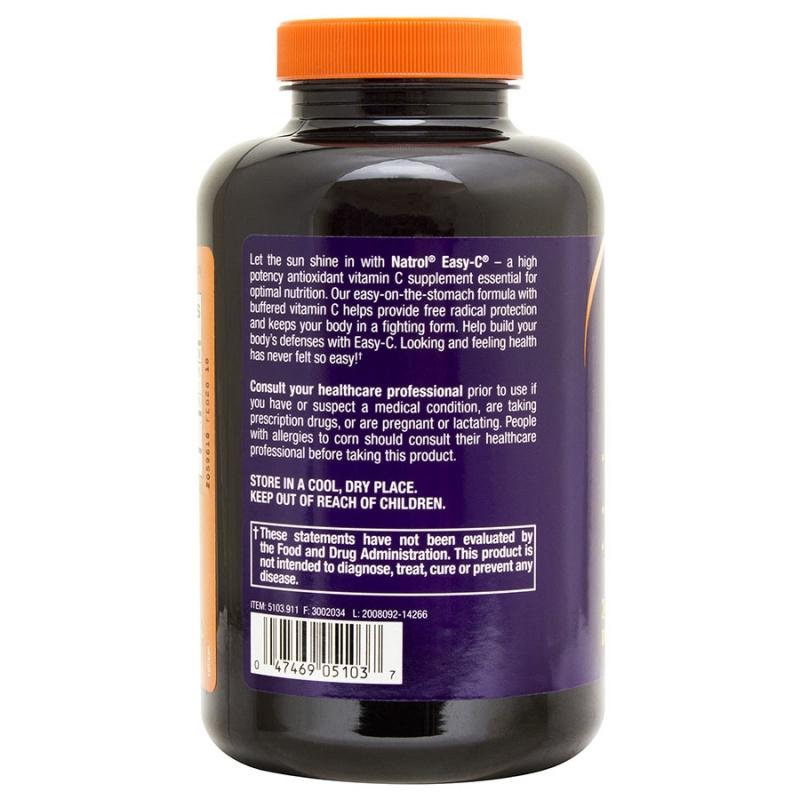 Natrol Easy- C With Bioflavonoids 240 Vegetarian Capsules